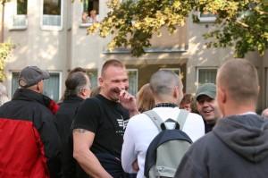 Alexander Christian bei der Anti-Moschee-Demo in Brigittenau, September 2007